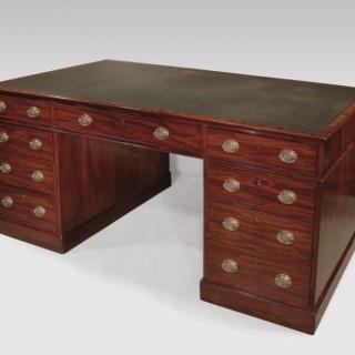 A fine late 18th Century mahogany Library Partner's Desk