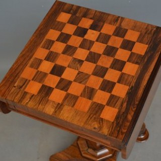 William IV Rosewood Chess Table