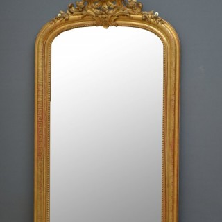 Fabulous XIXth Century French Gilt Mirror
