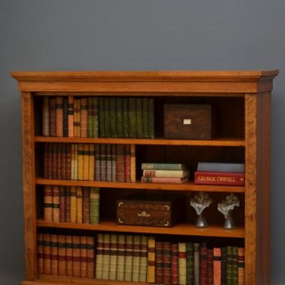 Victorian Walnut and Inlaid Open Bookcase