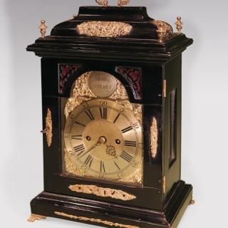 A mid 18th Century Ebonised Bracket Clock