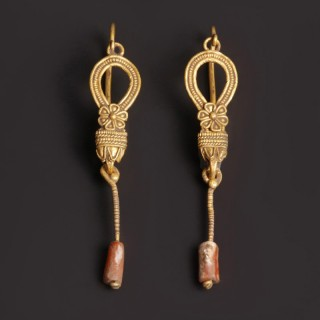 Late Hellenistic Gold Earrings