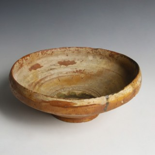 Byzantine Bowl with Sgraffito Ornamentation