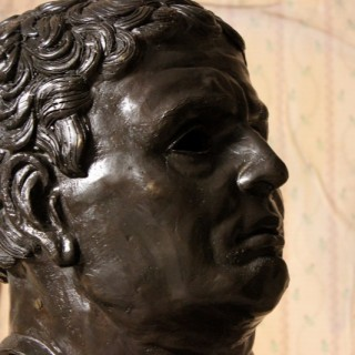 A Large 20thC Bronze Portrait Bust of a Roman Republican