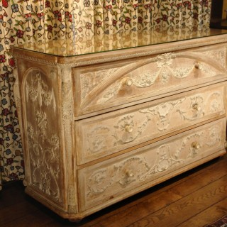 French Gesso on Pine Commode / Chest of Drawers