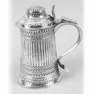 Antique George III Silver Tankard Peter & Anne Bateman London 1793