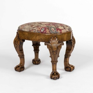 A Walnut Stool in the Early Georgian Manner