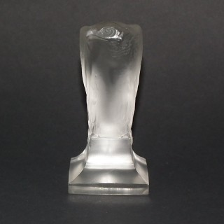 Rene Lalique Clear & Frosted Glass 'Aigle' Cachet
