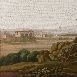 Early 19th Century Italian micromosaic of ancient ruins