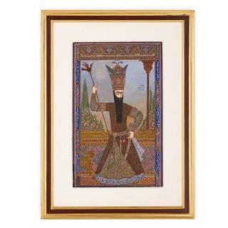 19th Century Persian painting of Fath-Ali Shah Qajar