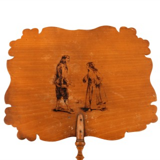 Pair of French Face Screen Fans