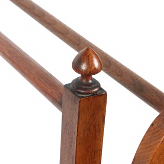 Fine Victorian Walnut Towel Rail