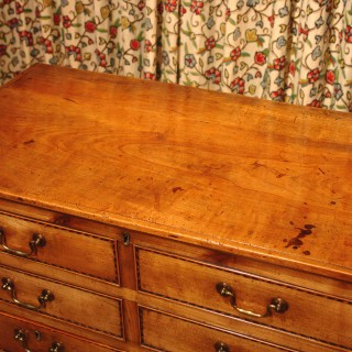 Georgian Fruitwood Chest of Drawers with Lift up Lid