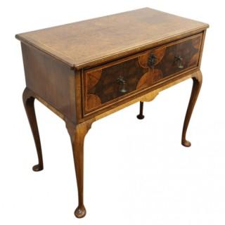 Burr Walnut and Laburnum George I Style Side Table
