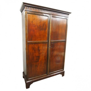 Late Georgian Mahogany 2 Door Wardrobe