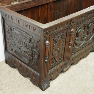 Renaissance Style Oak Coffer or Trunk