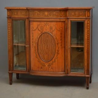 Edwardian Mahogany and Satinwood Cabinet