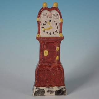 Staffordshire Pearlware Long Case Clock