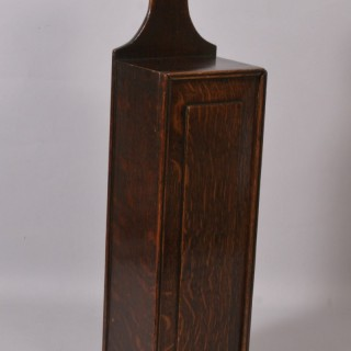 Antique Treen 19th Century Welsh Oak Candle Box
