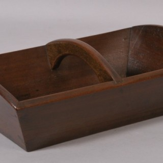 Antique Treen 19th Century Mahogany Cutlery Tray