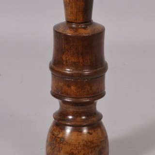 Antique Treen 19th Century Fruitwood Bottle Corker