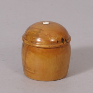 Antique Treen 19th Century Fruitwood String or Cotton Dispenser