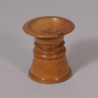 Antique Treen 19th Century Boxwood Pounce Pot