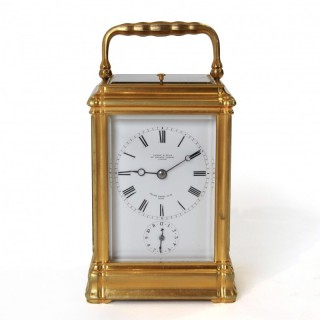 Quarter striking carriage clock by Leroy & Fils