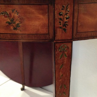 C18th Satinwood Writng Table ex William Penn Family.