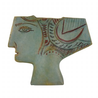 Ceramic Vase In The Shape Of A Womans Head.