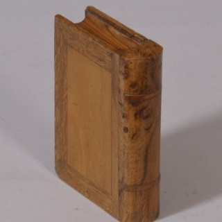 Antique Treen 19th Century Novelty Book Box