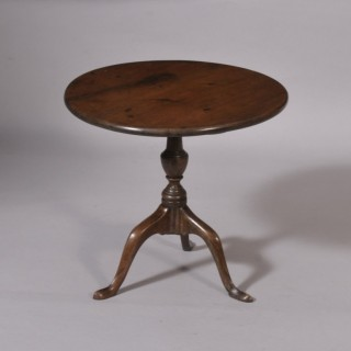 Antique Treen Georgian Mahogany Miniature Tripod Table