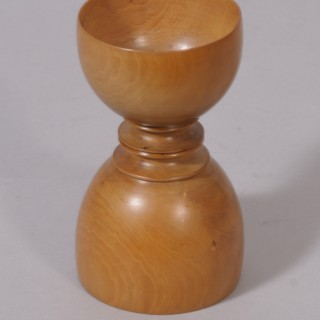 Antique Treen 19th Century Boxwood Apothecary's Double Measure