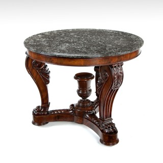 Fine French 19th Century Marble Topped Louis Philippe Mahogany Centre Table