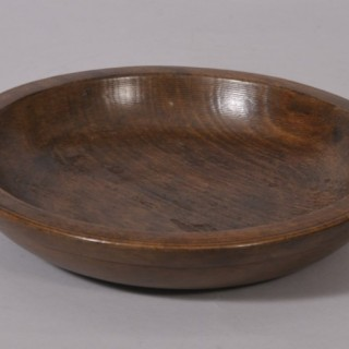 Antique Treen 19th Century Ash Serving Dish