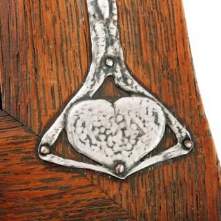 Art Nouveau Silver & Oak Picture Frame