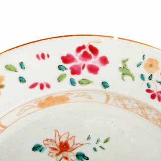 18th Century Chinese Famille Rose Plate