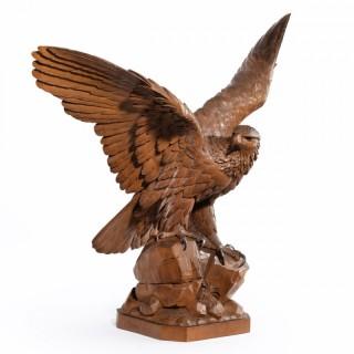 'Black Forest' walnut eagle