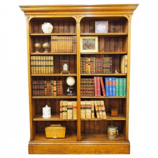 Gothic Influence Oak Open Bookcase