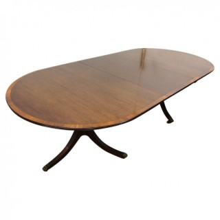 George II Style Dining Table with Extra Leaf by Heals of London