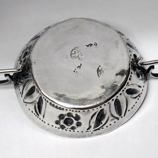 Antique Charles II Miniature Silver Wine Taster
