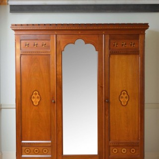 Aesthetic Movement Solid Walnut Wardrobe