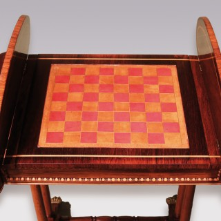 Regency period rosewood Games Table