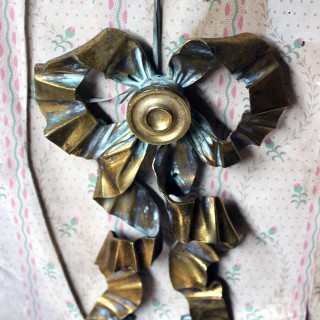 A French 19thC Cast Ormolu Mount Modelled as a Tied Ribbon Bow c.1880