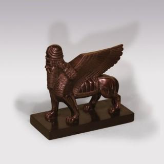 19th Century model of the Assyrian Sphinx Lamasu