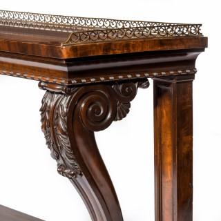 Regency mahogany console table