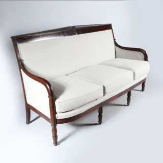 An Empire mahogany settee attributed to Jacob freres