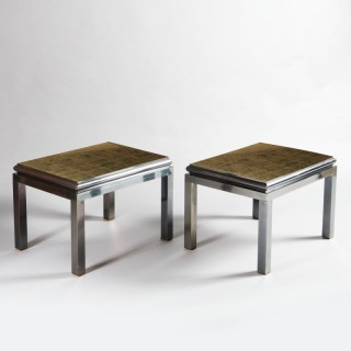 A pair of end tables by Guy Lefevre for Maison Jansen
