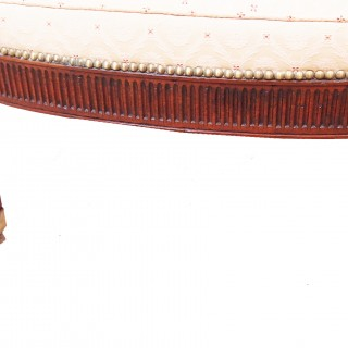 Antique 19th Century Upholstered Window Seat