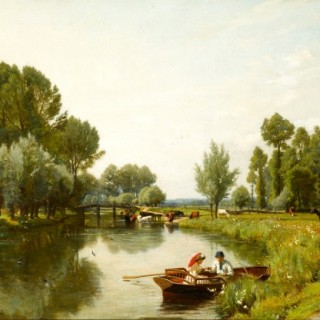 Boating on the Stour at Dedham